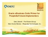 Oracle eBusiness Suite Primer for PeopleSoft Users and Implementers