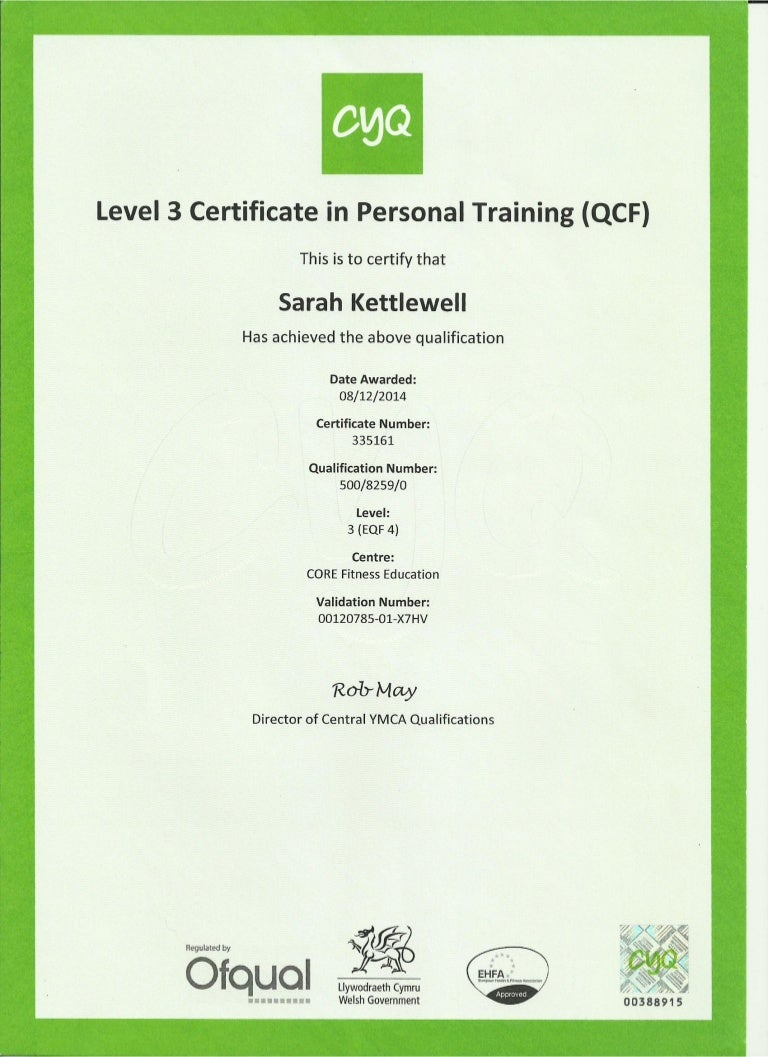 Cyq Level 3 In Personal Training