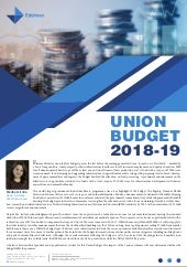 Analysis of the Union Budget 2018-19