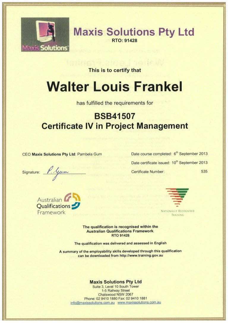 Bsb41507 cert iv in project management wlankel xflitez Image collections