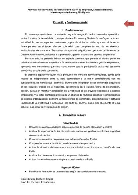 Proyecto dee microempresas