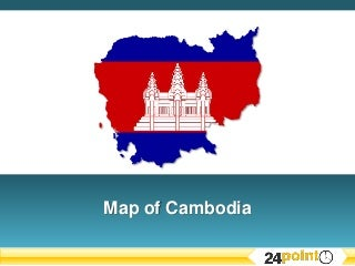 PowerPoint Map of Cambodia