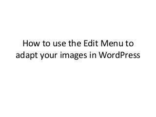 Edit image menu