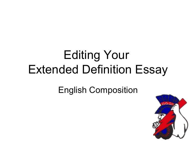 outline for definition essay