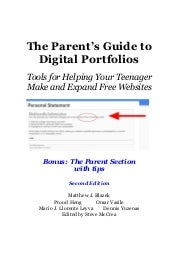 Edition 2 the parent's guide to digital portfolios and free websites