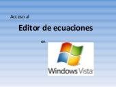 Editor De Ecuaciones en Windows Vista