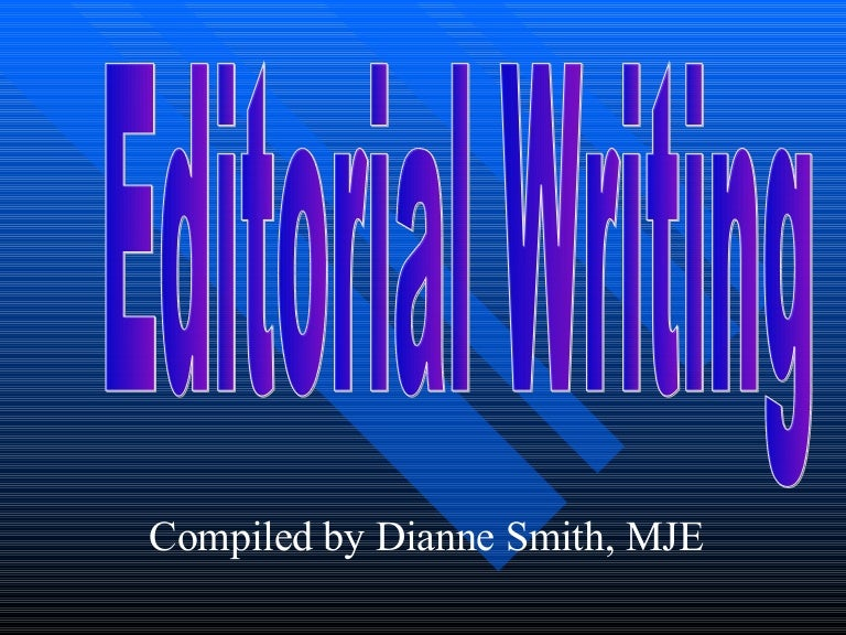 How to Write an Editorial - Geneseo edu