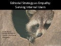 Editorial Strategy as Empathy for the Internal User