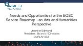 Needs and Opportunities for the EOSC Service Roadmap - An Arts and Humanities Perspective