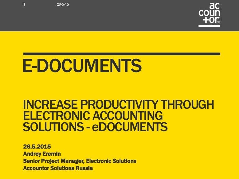 e-Documents in Russia - Accountor