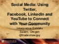 Social Media: Using Twitter, Facebook, YouTube and LinkedIn to Create Community