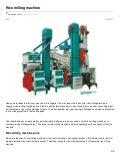 Eduauthor.com rice milling machine