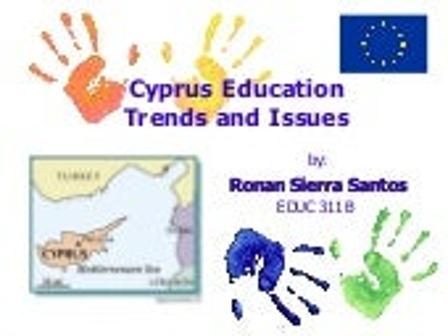 Educ 311 Cyprus Education