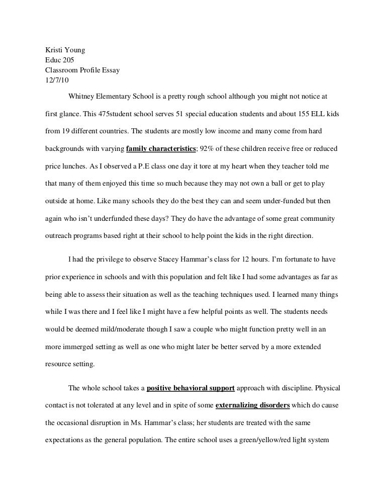 Observation Essay Samples  Reflection Paper Essay also Example Essay Thesis  Health Education Essay
