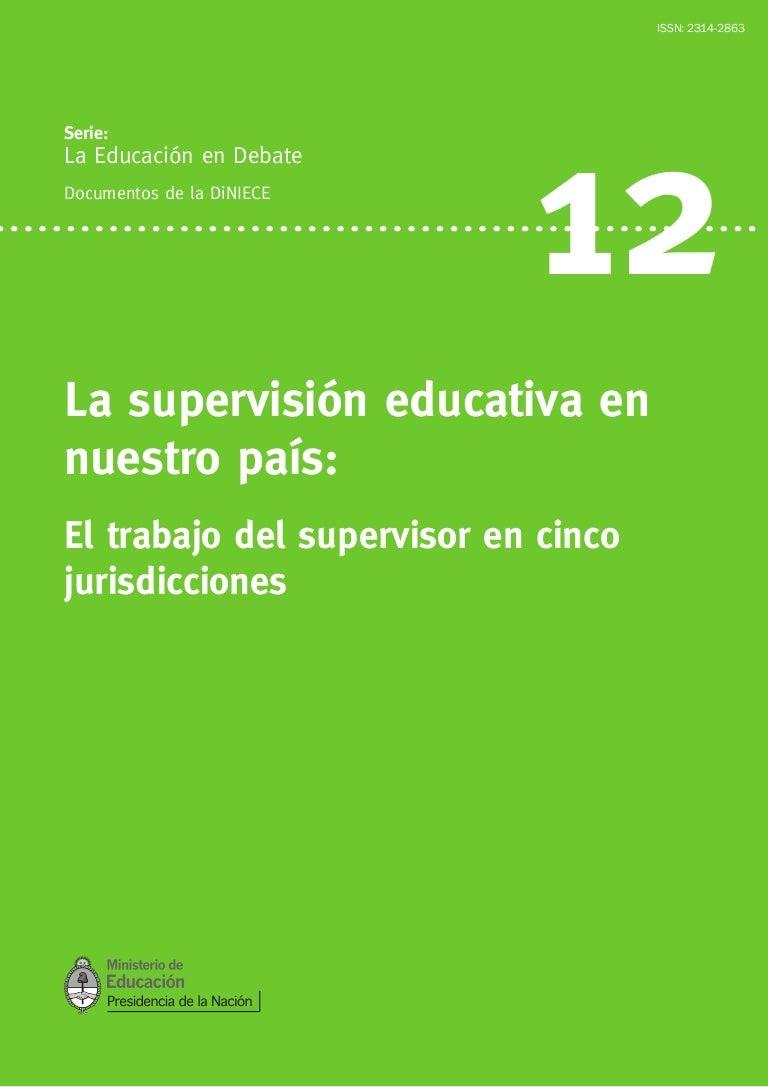 La supervisión educativa en nuestro país. Argentina.
