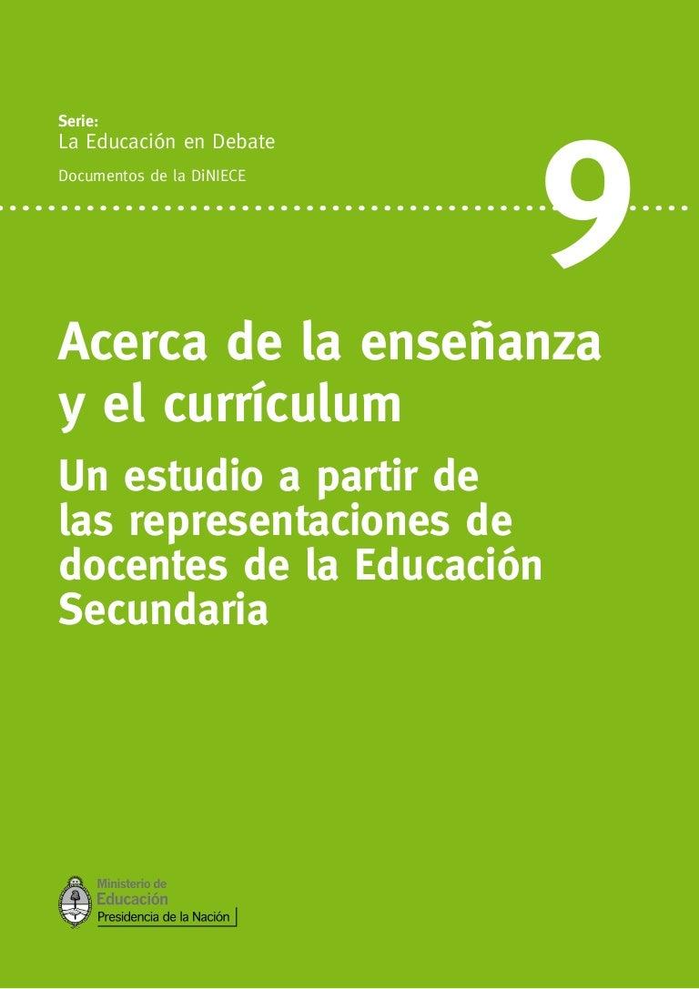 Acerca de la enseñanza y el currículum
