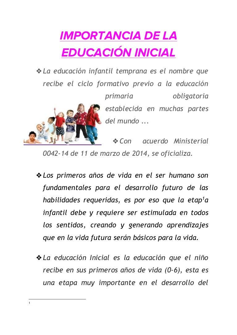 Educaci n inicial importancia pdf for Arquitectura para la educacion pdf