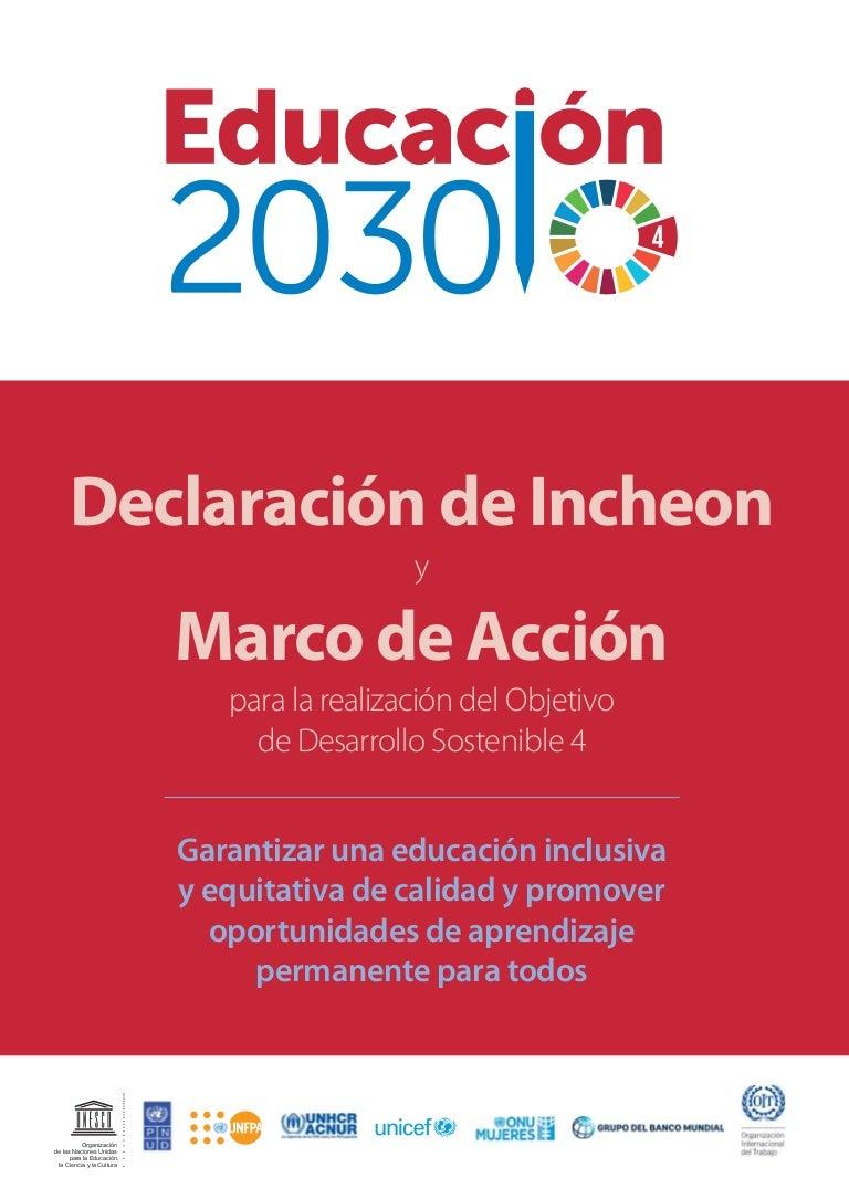 Educación 2030: Declaración de Incheon y Marco de Acción