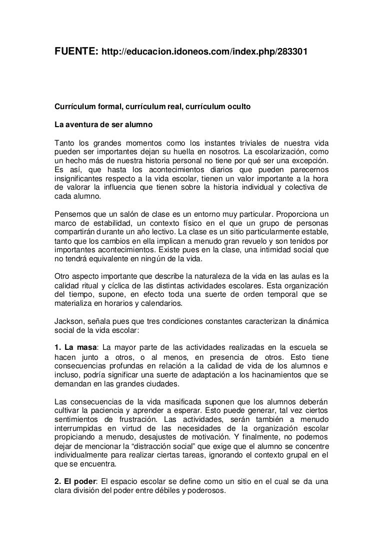 Educacion.ideoneos.com. curriculum formal y curriculum real una trans…