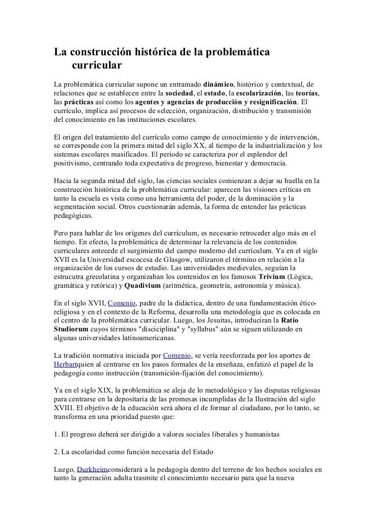 Educacion.idoneos.com la construcción histórica de la problemática cu…
