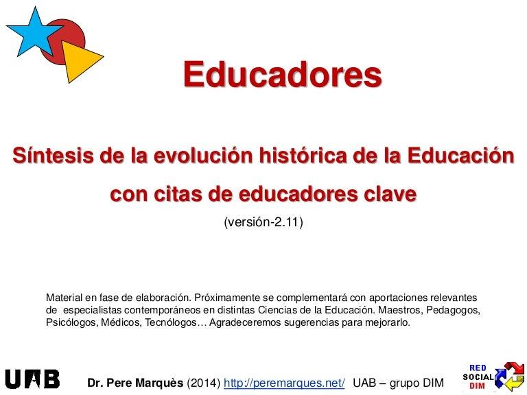 955e96ed7 Educadores  síntesis de la historia de la Educación