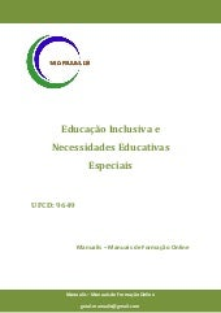 UFCD 9649 - Educação Inclusiva e Necessidades Educativas Especiais