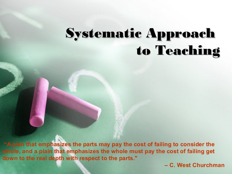 Systematic approach in teaching report in edtech1 toneelgroepblik Images