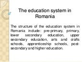 Educational  romanian system