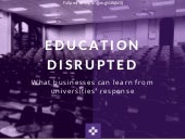 What you can learn from Universities' response to digital disruption