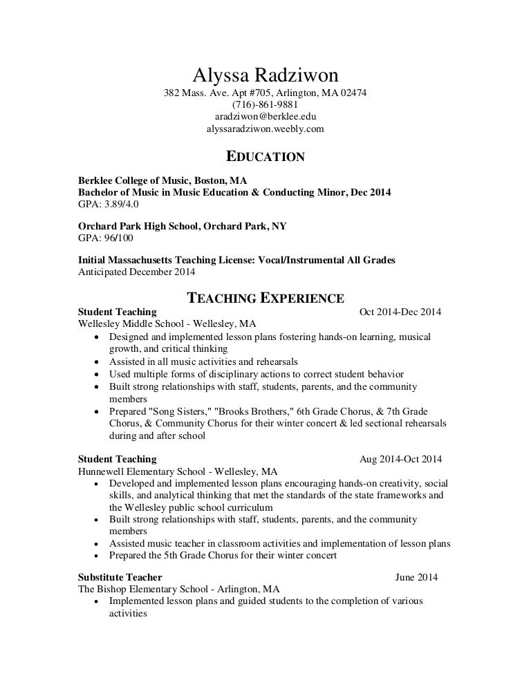 education resume edited