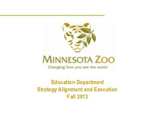 Zoo Education Strategy Alignment