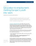 Education to employment getting europes youth into work