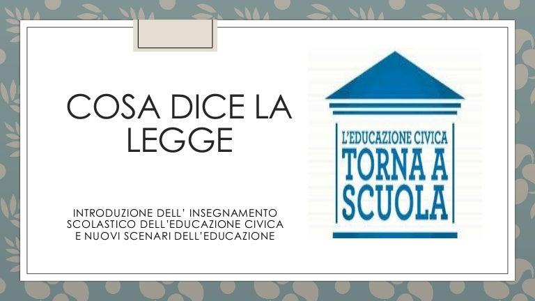 Introduzionedell Insegnamento Dell Educazione Civica Nella Scuola