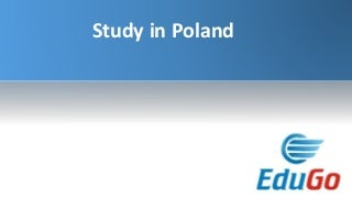Study In Poland - Edugo Abroad - Overseas Education Consultant in India