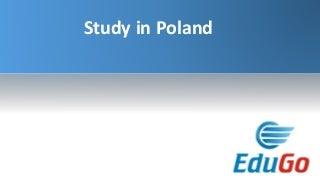 Study In Poland - Edugo Abroad - Overseas Education Consultant in India