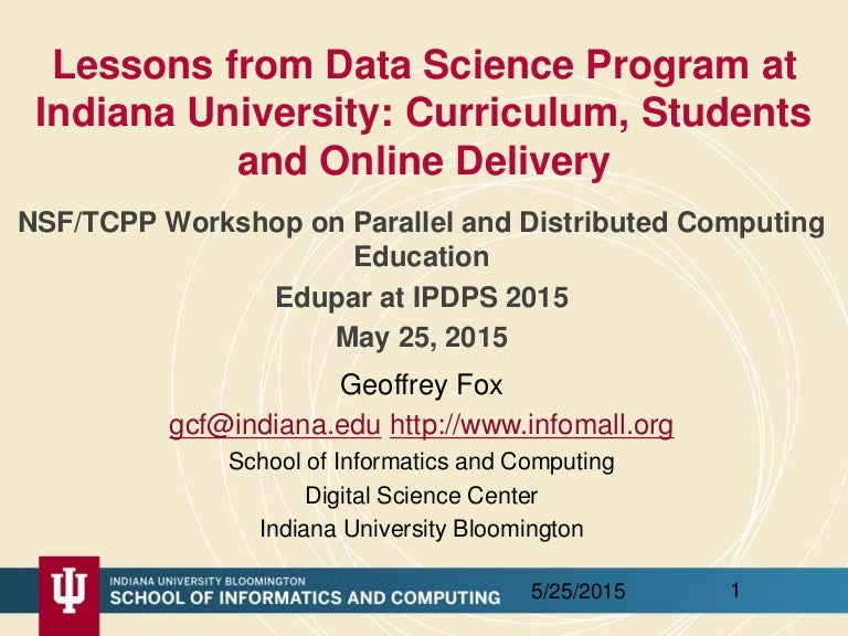 Lessons From Data Science Program At Indiana University Curriculum