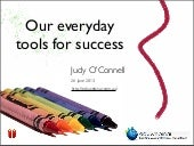 Eduwebinar:  Our Everyday Tools for Success