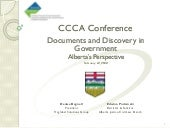 Documents and Discovery in Government - Alberta's Perspective