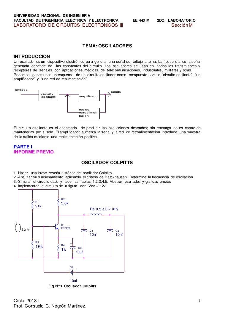 Circuito Oscilador : Ee osciladores i