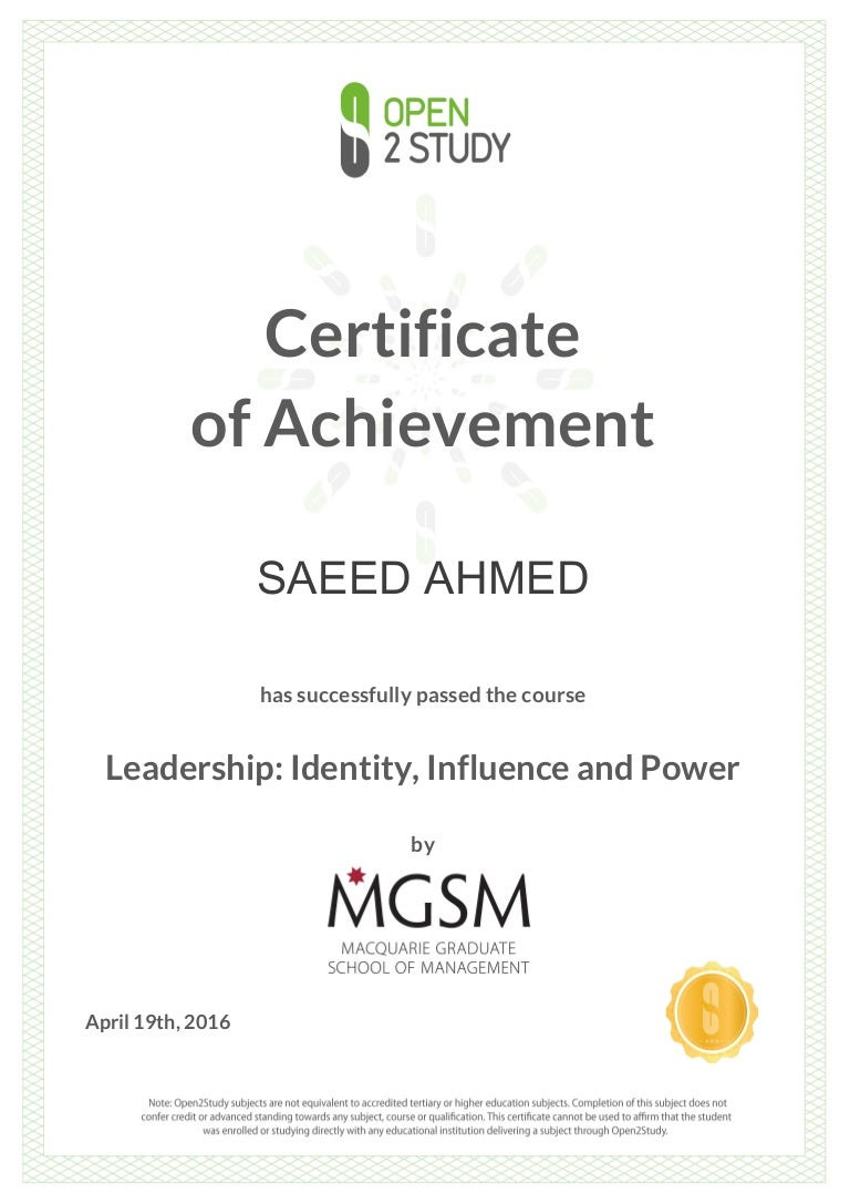 Certificate leadership by mgsm 1betcityfo Image collections