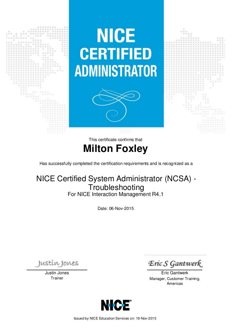 Nice certificate nice certified system administrator ncsa troub xflitez Gallery