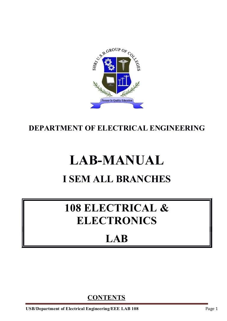 Electrical Wiring Lab Manual Pdf - Somurich.com
