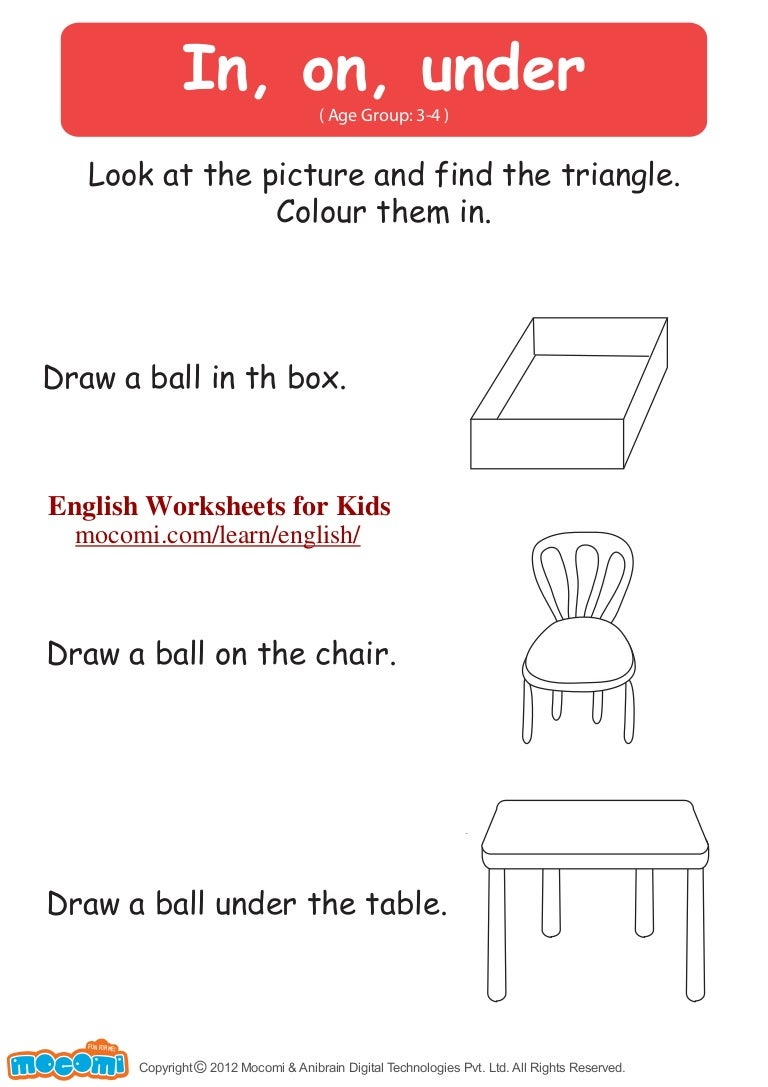 worksheet In On Under By Worksheets in on under english worksheets for kids mocomi com