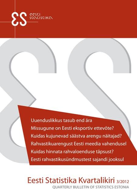 Eesti Statistika Kvartalikiri 3/12
