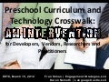 EETC, 2012:  Preschool Curriculum and Technology Crosswalk: An Intervention for Developers, Vendors, Researchers and Early Childhood Practitioners