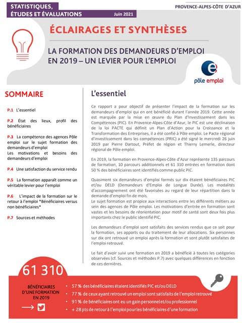 E&S évaluation formation 2019