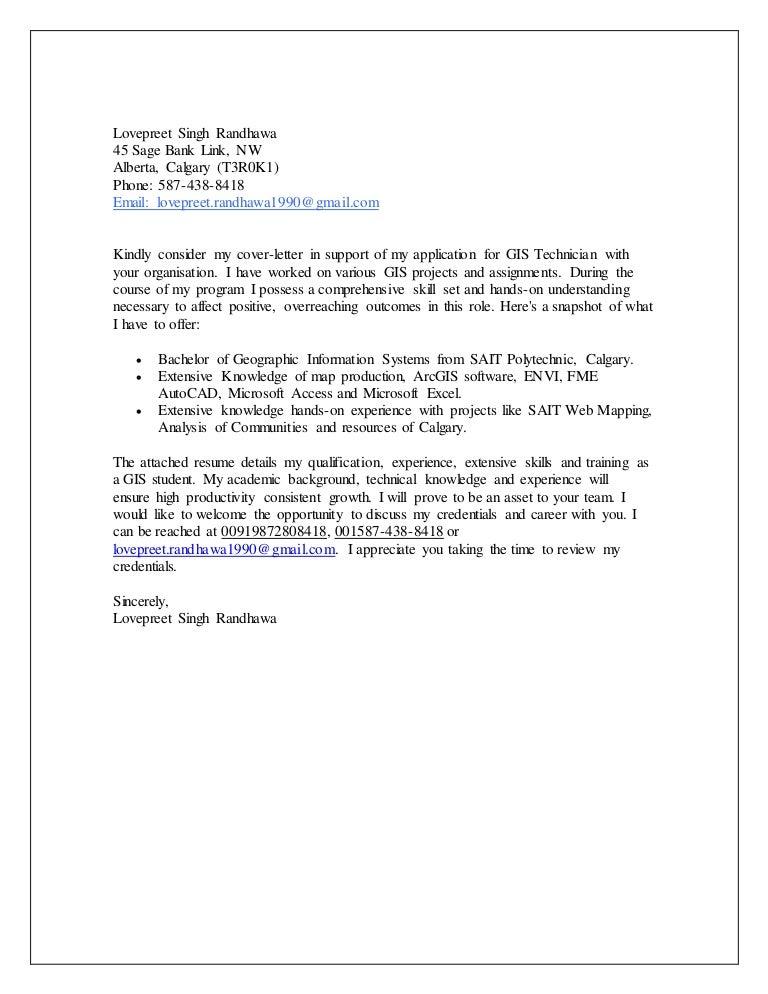Cover Letter GIS