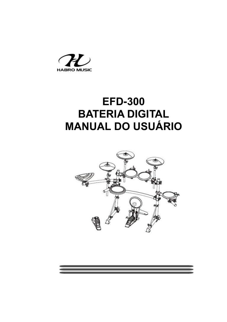 Manual da Bateria Eletrônica Fenix EFD 300 (PORTUGUÊS)