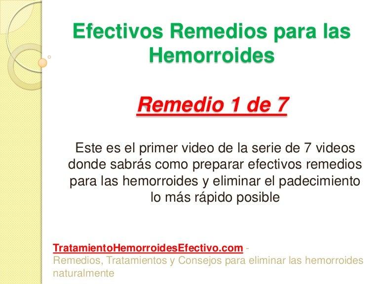 Remedios naturales para desinflamar hemorroides internas