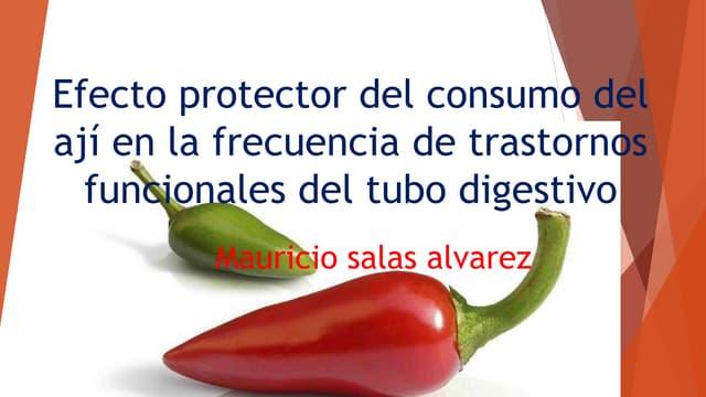 Efecto protector del consumo del ají en trastornos funcionales del tubo digestivo